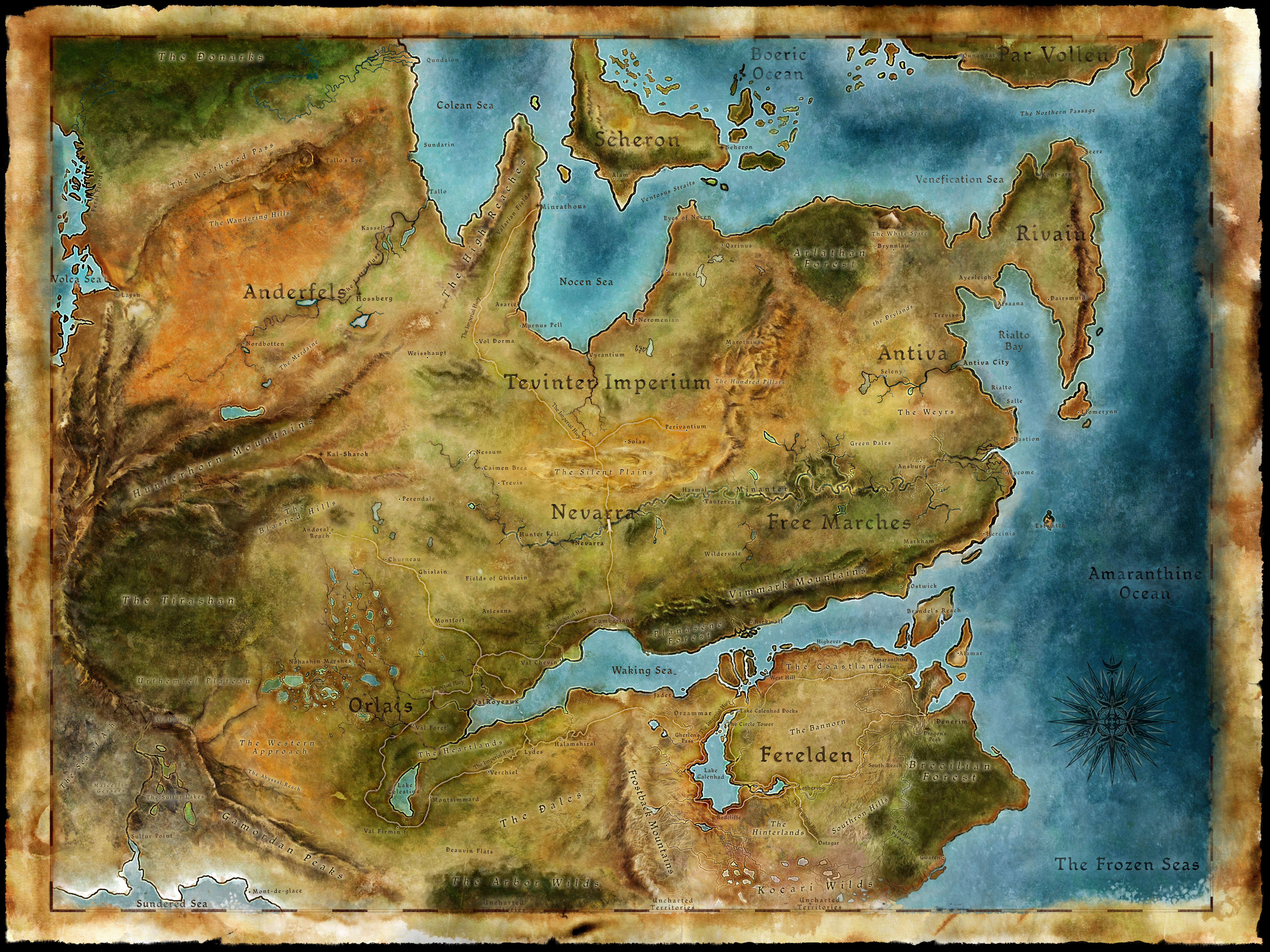 Dragon Age Weltenbau Karte - Weltenbau Wissen