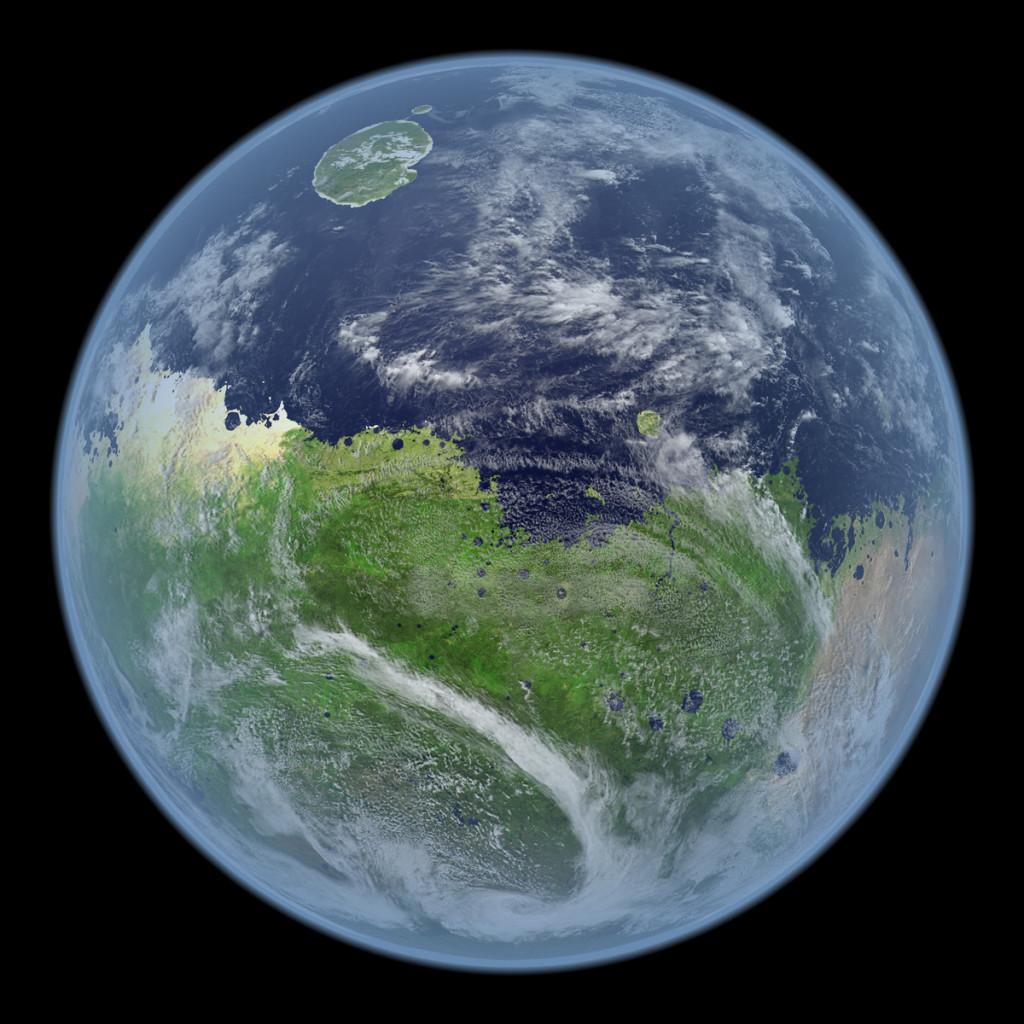 Der Mars als blauer Planet.