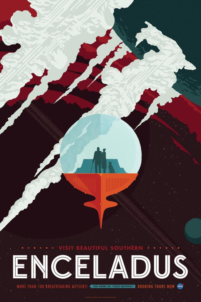 NASA Poster Enceladus