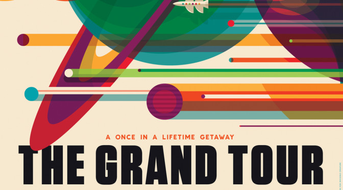 Diese NASA-Poster werben für Ferien im Weltraum
