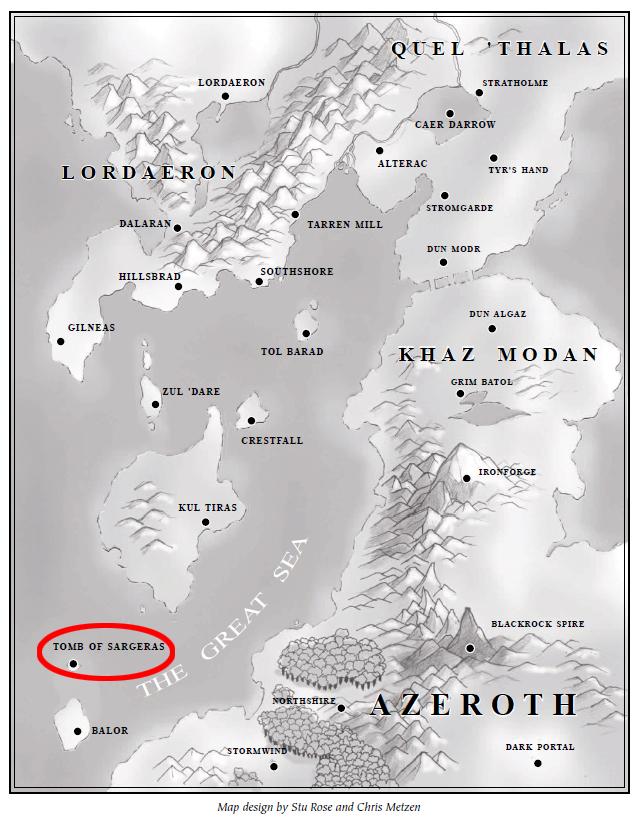 Karte_Azeroth_Warcraft_2_Sargeras Welt von Warcraft